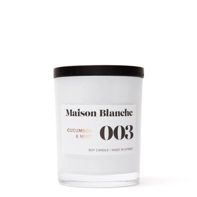 Maison Blanche Candles 003 Cucumber & Mint