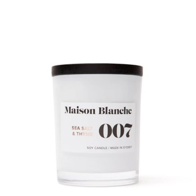Maison Blanche Candles 007 Sea Salt & Thyme