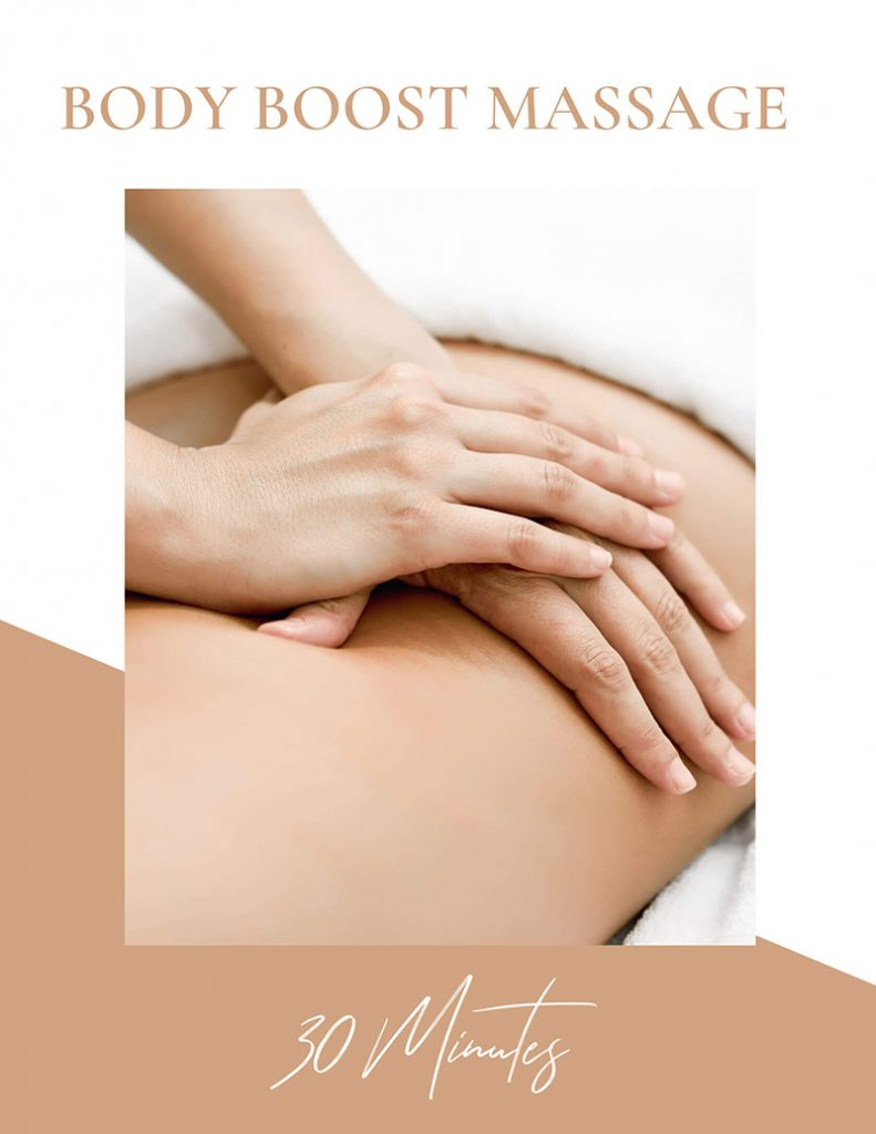 30 minutes Body Boost Massage